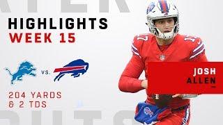 Josh Allen Highlights vs. Lions