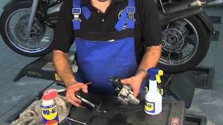 Cuida el motor de arranque de tu moto con WD-40