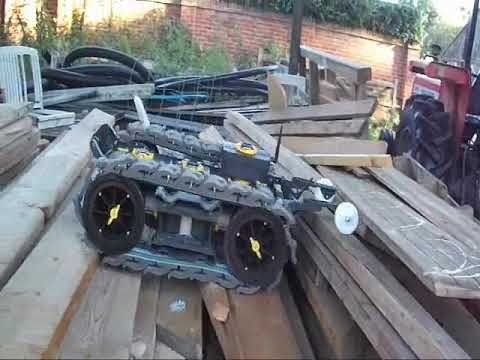 Robot equipped with CLAWWS tracks demonstrates 'All Terrain Mobility'