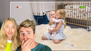 Hidden Camera Catches Everleigh Doing This While Babysitting Baby Posie