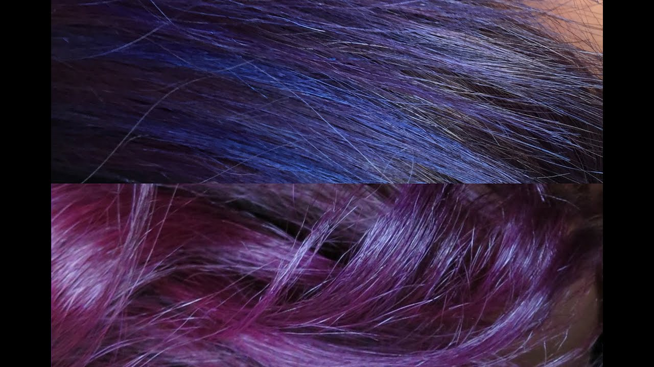 vlog mes cheveux violets crazy color - Crazy Color Aubergine