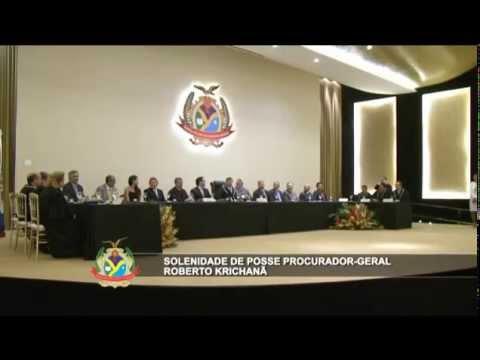 Posse do procurador-geral Roberto Krichanã