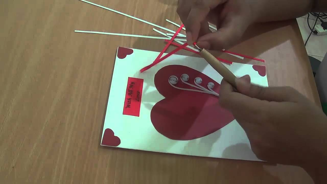 How To Make Paper Quilling Valentine Card Youtube