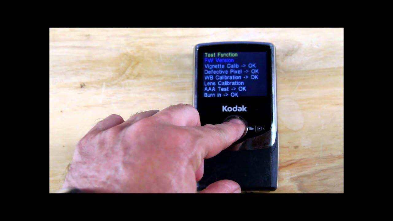 kodak zi6 reformat and restore factory settings on camera because rh youtube com  kodak hd zi6 manual