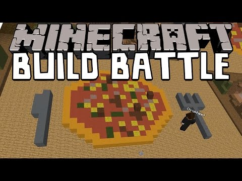 Minecraft | PIZZA-TAJM! | Team Build Battle Minigame på Svenska med figgwhipp