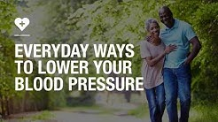 Everyday ways to lower your blood pressure