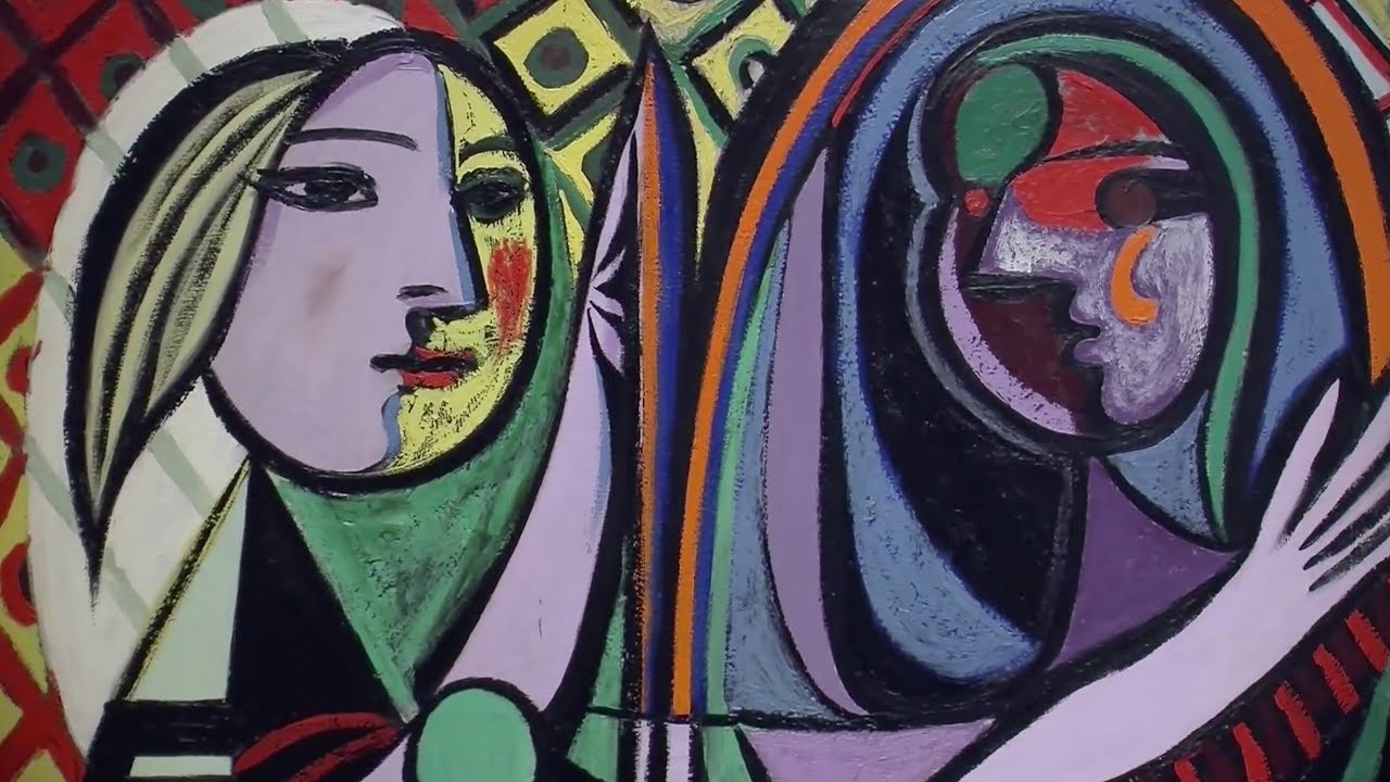 girl before a mirror by pablo picasso 1932 moma education youtube. Black Bedroom Furniture Sets. Home Design Ideas