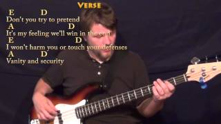 Don't You Forget About Me (Simple Minds) Bass Guitar Cover Lesson with Chords/Lyrics
