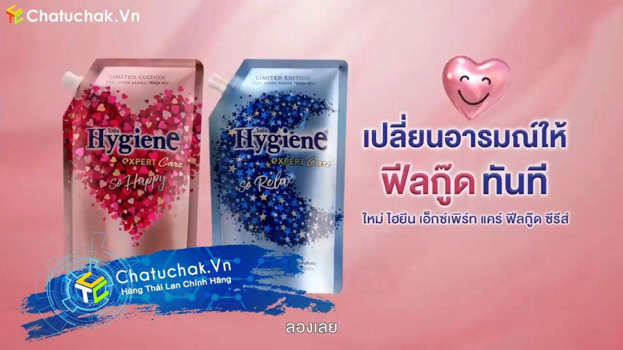 【Chatuchak.Vn】Quảng Cáo Nước Xả Vải Hygiene Expert Care So Happy & So Relax Thái Lan   Thailand TVC