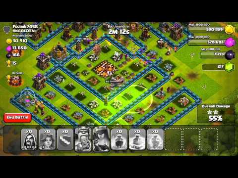 Clash of Clans - Valkyrie + Jump Spell Raiding!