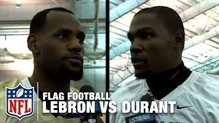 Team LeBron James vṡ Team Kevin Durant Flag Football Game Highlights | NFL
