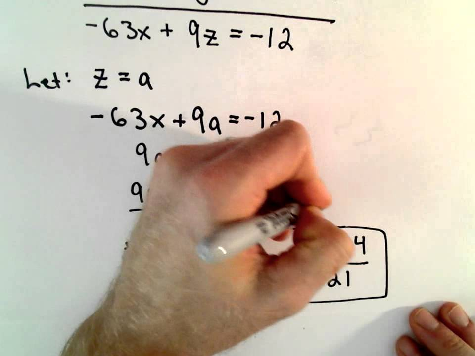Solving a System of 2 Equations with 3 Unknowns ...