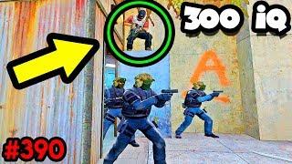 300 IQ SNEAKY BOOST SPOT! - CS:GO BEST ODDSHOTS #390