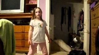 little white girl doing the cha cha slide