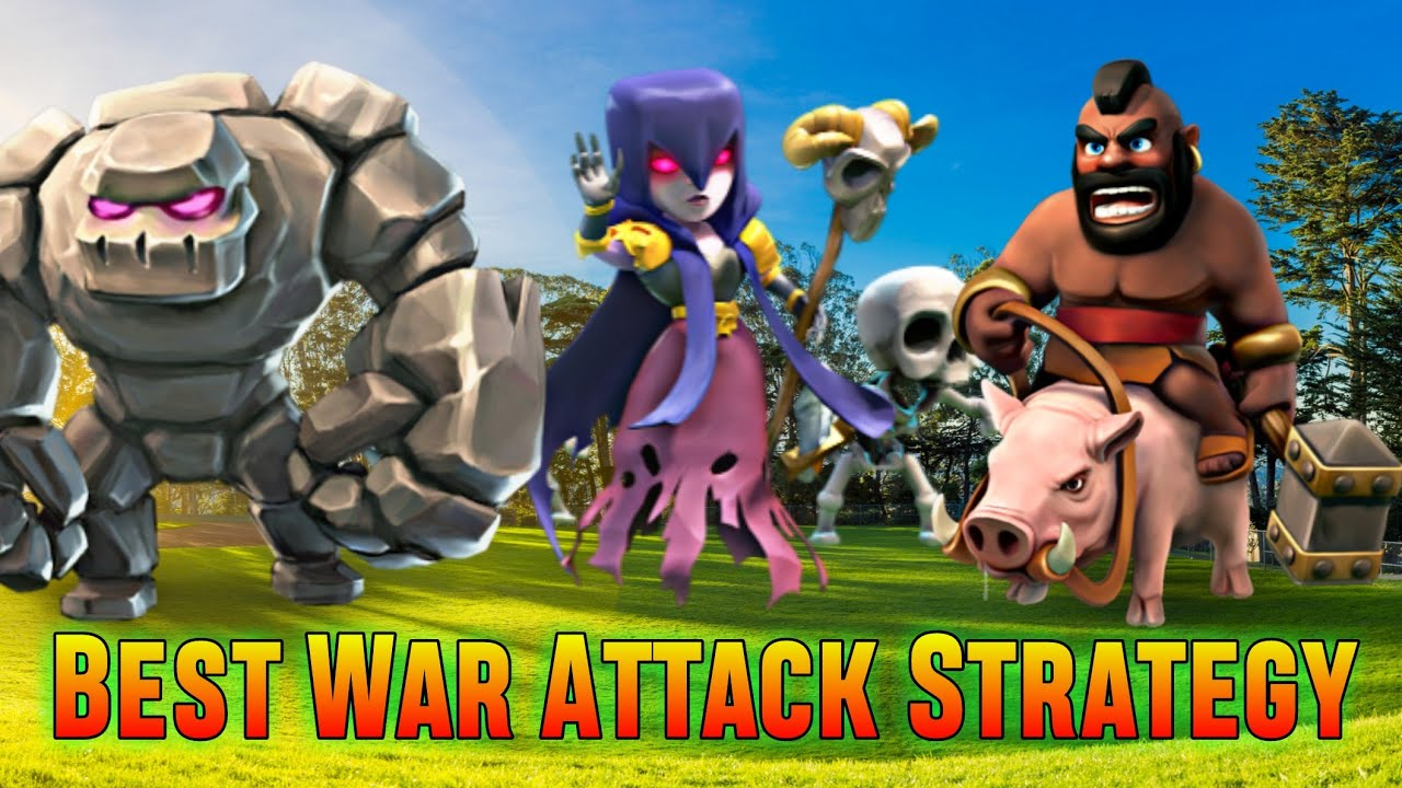 Download TH9 GoWiHo (Golem + Witch + Hog Rider) War Attack Strategy | Part 2 | Clash of Clans