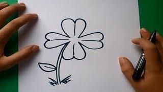 Como dibujar un trebol paso a paso | How to draw a clover