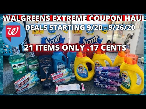 WALGREENS COUPON HAUL DEALS STARTING 9/20/20| 21 ITEMS ONLY .17 CENTS JAW DROPPING GOOD DEALS!
