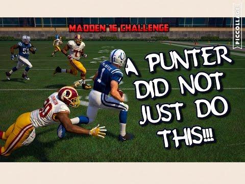 CAN THE BEST PUNTER GET A PUNT RETURN FOR A TD?? Madden 16 Challenge!