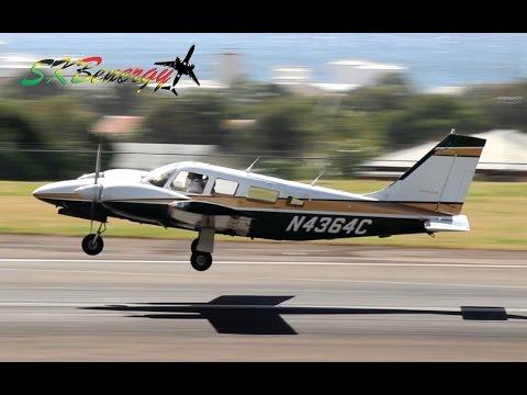 9 Small Prop Arrivals - Piper Seneca - Cessna 208 Caravan - BN-2 Islander...@ St. Kitts (HD 1080p)