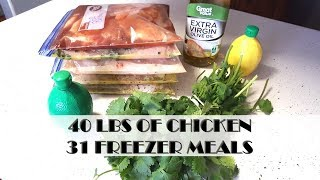 Turning 40lbs of Chicken Into 30+ Freezer Meals