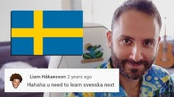 American Streamer tries to learn Swedish