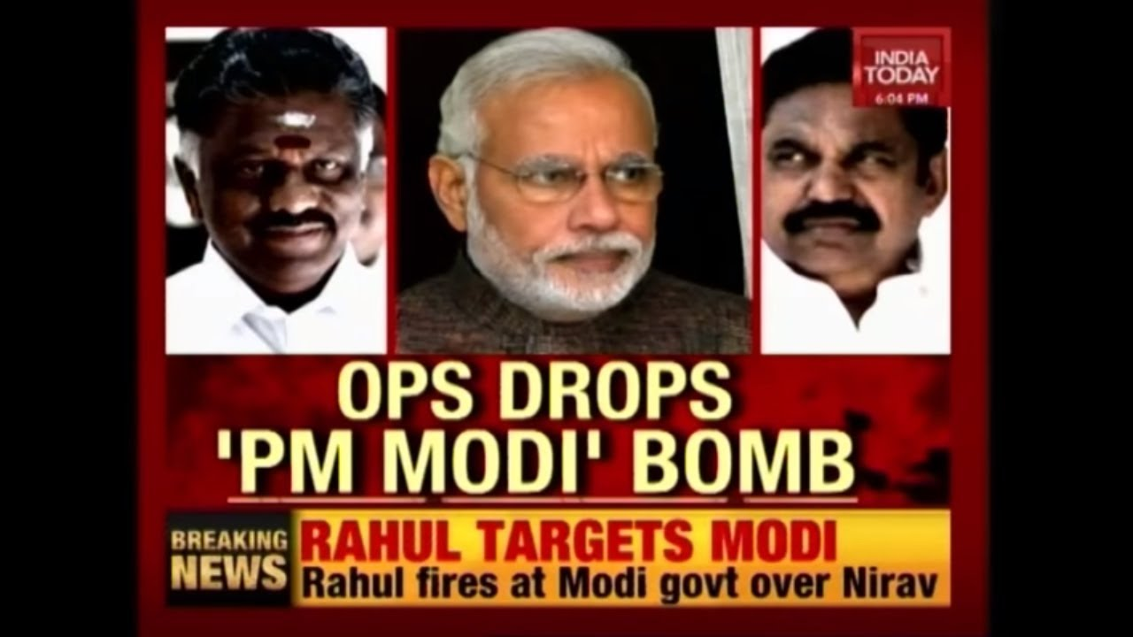 OPS' Big Political Bomb, Claims PM Modi Insisted Him To Join Hands With EPS