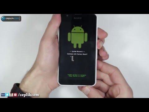 Sony Xperia E4 ve Xperia E4g Modellerine Nasıl Format Atılır?