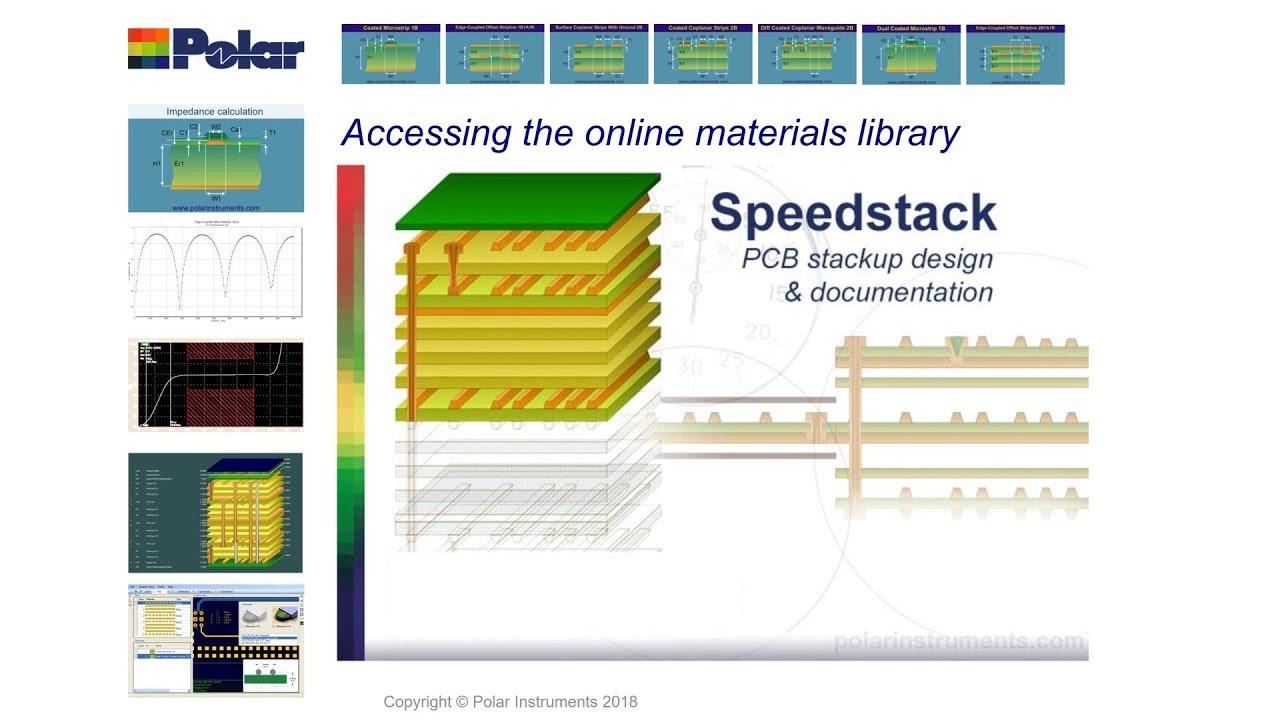 Speedstack online base pcb material libraries