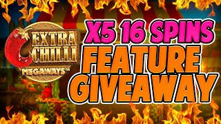 x5 Extra Chilli 16 Spins Feature Buys! Giveaway Results