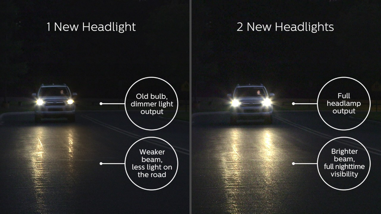 Why it is better to replace the headlight bulbs in pairs
