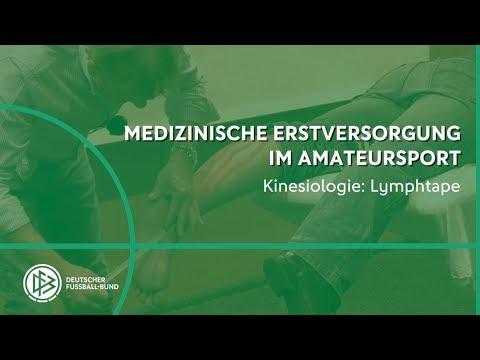 - Kinesiotape mit DFB-Physio Klaus Eder: Lymphtape für das Sprunggelenk