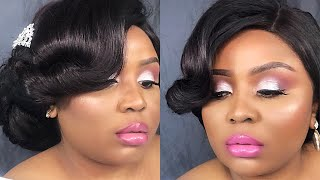 Bridal makeup and hair (wedding) / maquillage mariage et coiffure