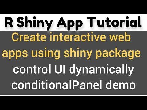 R Shiny App tutorial # 19 - conditionalPanel() demo - change