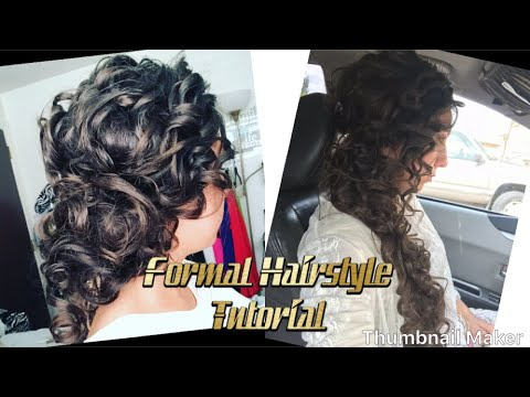 FORMAL HAIRSTYLES||Longhair Weddings Classy Elegant Curly Side Pony|| MOST REQUESTED|| Life Of Corny
