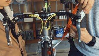 「完成間近!」嫁のロードバイクを組む動画