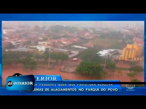 MP de Prudente quer que prefeitura resolva problemas de alagamentos no Parque do Povo