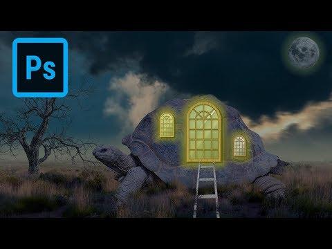 Glowing Turtle House Photo Effect - Photoshop Tutorial thumbnail