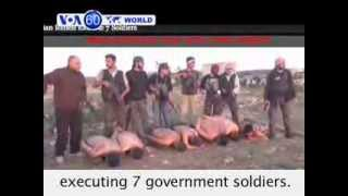 Syria: Video obtained by New York Times website shows Syrian rebels executing 7 government soldiers. thumbnail