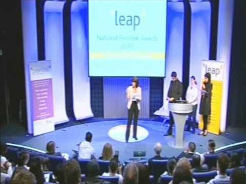 Jane Corbin presenting the PeerLink Awards 2010