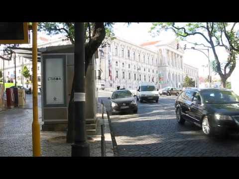 Bus stop near the flat in Lisbon
