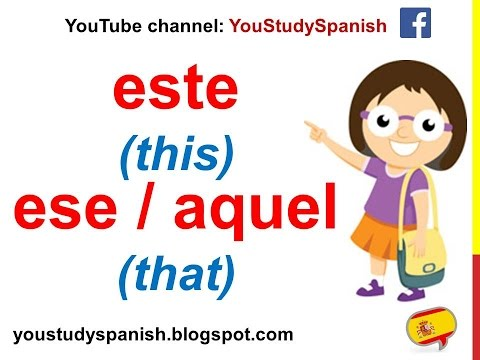 Spanish Lesson 53 - DEMONSTRATIVE ADJECTIVES in Spanish Este Esta Ese Aquel This That These Those