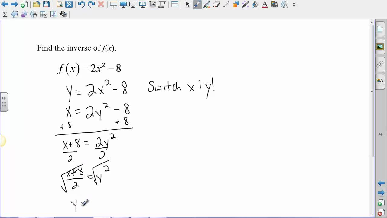 Algebra 2 - Inverse Functions - YouTube