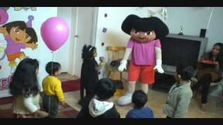 Shreya's 4th Bday Party - Part 1 - Play time With Dora