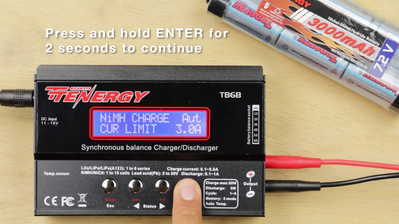 How To Charge Series Charging Nimh Battery Packs On The Tb6b Youtube