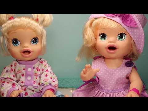 Видео, Куклы Пупсики Беби Элайв кушают открывают игрушку Зырики ТВ