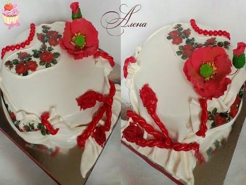 Торт рубашка из мастики