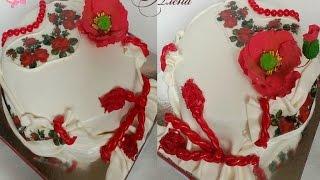 Как сделать торт вышиванку