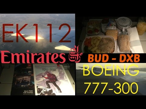 Emirates EK112 : Flying from Budapest to Dubai
