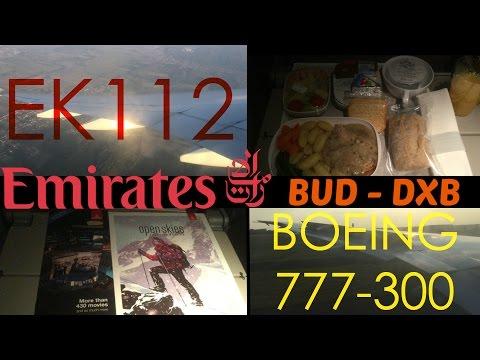 Emirates EK112 : Flying from Budapest to Dubai