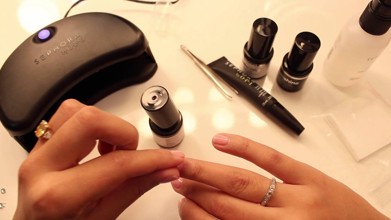 Let\'s get our Nails done (Sephora by OPI gel machine) - YouTube